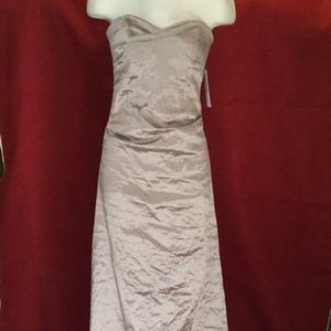 NICOLE MILLER RUCHED TECHNO GOWN DRESS $675  sz 2